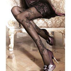 Collant lycra motif floral pailleté 20d 096 - Ballerina - Modalova