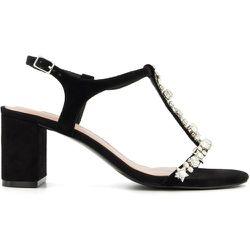 Sandales style Salomé ornées de bijoux fantaisie - MAGENTA - DUNE LONDON - Modalova