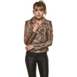 Blouson cuir impression python - TASSA PARIS - Modalova