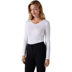 Tee-shirt basique à manches longues et col v - BURTON OF LONDON - Modalova