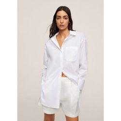 Chemise coton à poche - Mango - Modalova