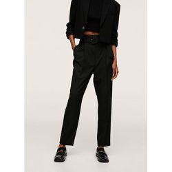 Pantalon droit avec ceinture - Mango - Modalova