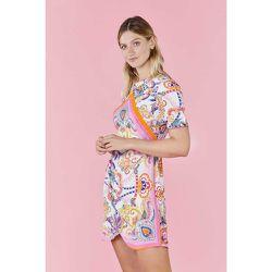 Robe courte imprimée à jupe drapée SATURNE - DERHY - Modalova
