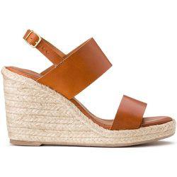 Sandales en cuir talon compensé BARANO - ANTHOLOGY PARIS - Modalova
