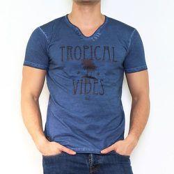 T-shirt manche courte col V AGNI - HopenLife - Modalova