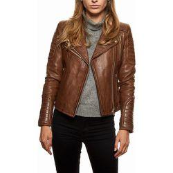 Veste en cuir avec matelassage - TASSA PARIS - Modalova