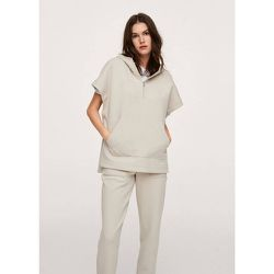 Sweat-shirt coton texture capuche - Mango - Modalova