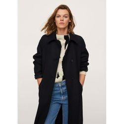 Manteau en laine boutonné - Mango - Modalova