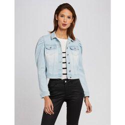 Veste droite boutonnée en jean - Morgan - Modalova