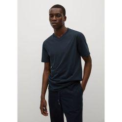 T-shirt basique coton col V - mango man - Modalova