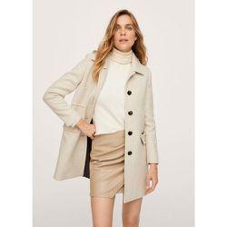 Manteau laine poches - Mango - Modalova