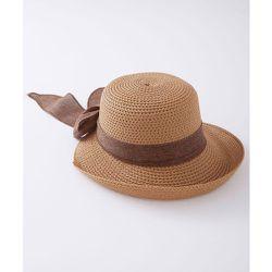 Chapeau de paille à ruban - DAMART - Modalova