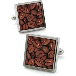 Boutons de manchette en acier rhodié COFFEE - ROBERT CHARLES - Modalova
