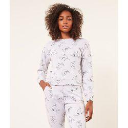 Haut de pyjama manches longues imprimé chats YAVIE - ETAM - Modalova