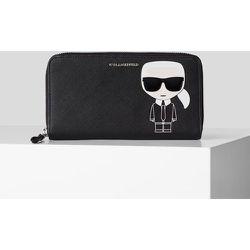 K/Ikonik portefeuille zippé - Karl Lagerfeld - Modalova