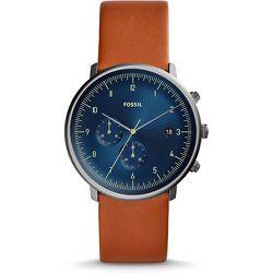 Unisex Montre Chase Timer Chronographe En Cuir - One size - Fossil - Modalova
