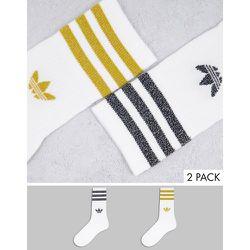 Adicolor - Lot de 2paires de chaussettes mi-longues - pailleté - adidas Originals - Modalova