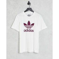 Adicolor - T-shirt à grand logo - et prune - adidas Originals - Modalova