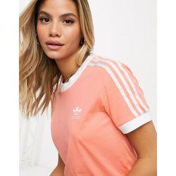 Adicolor - T-shirt à trois bandes - Rose - adidas Originals - Modalova