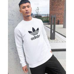 Sweat-shirt avec grand logo trèfle - adidas Originals - Modalova