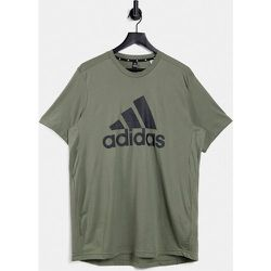 Adidas Training - T-shirt à grand logo - Kaki - adidas performance - Modalova