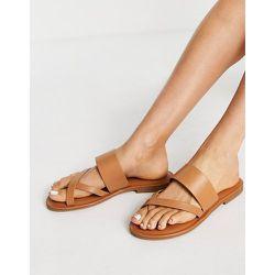 Yilania - Sandales plates en cuir - Beige - ALDO - Modalova