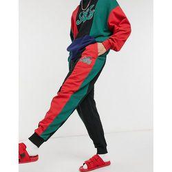 Jogger oversize d'ensemble effet color block avec empiècements coupés cousus - Vert et rouge - ASOS Actual - Modalova