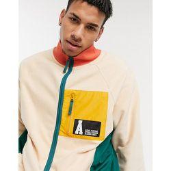 Veste à fermeture éclair avec poches contrastantes en nylon - Taupe - ASOS Actual - Modalova