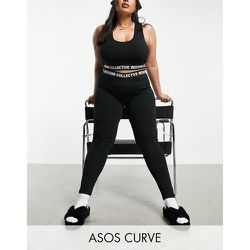 ASOS Curve - Weekend Collective - Legging avec bande de logo - ASOS Weekend Collective - Modalova