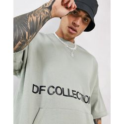 Sweat-shirt oversize à manches courtes avec logo imprimé - Brouillard de la forêt - ASOS Dark Future - Modalova