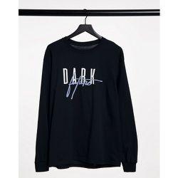 T-shirt à manches longues avec logo sur le devant et à l'arrière - ASOS Dark Future - Modalova