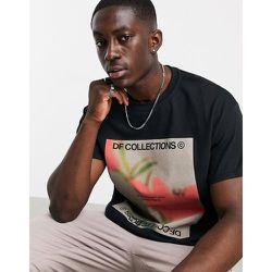 T-shirt décontracté avec logo et imprimé floral - ASOS Dark Future - Modalova