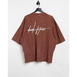 T-shirt oversize avec détail grande poche - ASOS Dark Future - Modalova