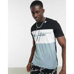 ASOS - Dark Future - T-shirt oversize effet coupé-cousu - et blanc - ASOS Dark Future - Modalova