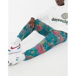 ASOS Daysocial - Pantalon de jogging oversize en polaire à imprimé (ensemble) - ASOS Day Social - Modalova