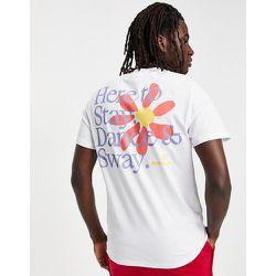 ASOS - Daysocial - T-shirt décontracté avec logo sur le devant et fleur imprimée au dos - ASOS Day Social - Modalova