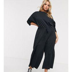 ASOS DESIGN Curve - Combinaison confort casual en jersey flammé à taille nouée - ASOS Curve - Modalova