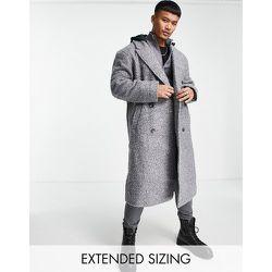 Manteau coupe décontractée en laine mélangée - ASOS DESIGN - Modalova