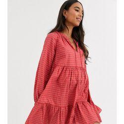 ASOS DESIGN Maternity - Robe courte trapèze texturée effet superposé - ASOS Maternity - Modalova