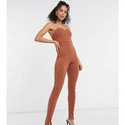 ASOS DESIGN Tall - Combi moulante bandeau avec fentes sur les jambes - ASOS Tall - Modalova