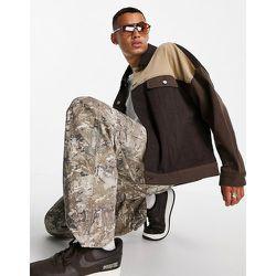 Veste oversize style western en jean effet coupé-cousu - ASOS DESIGN - Modalova