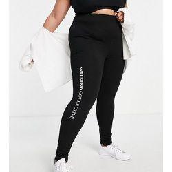 Curve - Legging avec logo - ASOS Weekend Collective - Modalova