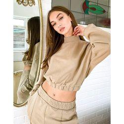 Sweat-shirt d'ensemble court - Camel - Bershka - Modalova