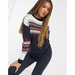Ensemble de Noël avec pantalon imprimé jacquard - Brave Soul - Modalova