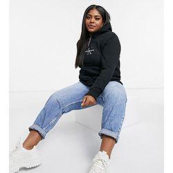 Hoodie à logo pailleté - Calvin Klein Jeans Plus - Modalova