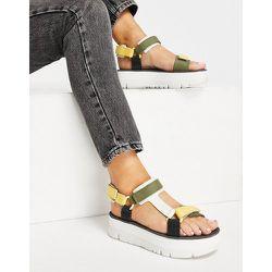 Sandales à brides color block et semelle plateforme - mélangé - Camper - Modalova