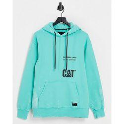Caterpillar - Hoodie à logo et détails à l'acide sur l'ensemble - Menthe - Cat Footwear - Modalova