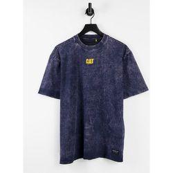Caterpillar - T-shirt en jean délavé à imprimé logo - Cat Footwear - Modalova
