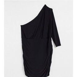 Robe courte asymétrique à détails froncés - Club L London Plus - Modalova