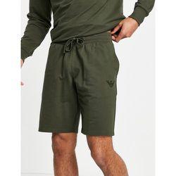 Emporio Armani - Bodywear - Short en tissu éponge à logo ton sur ton - Kaki - Emporio Armani Bodywear - Modalova